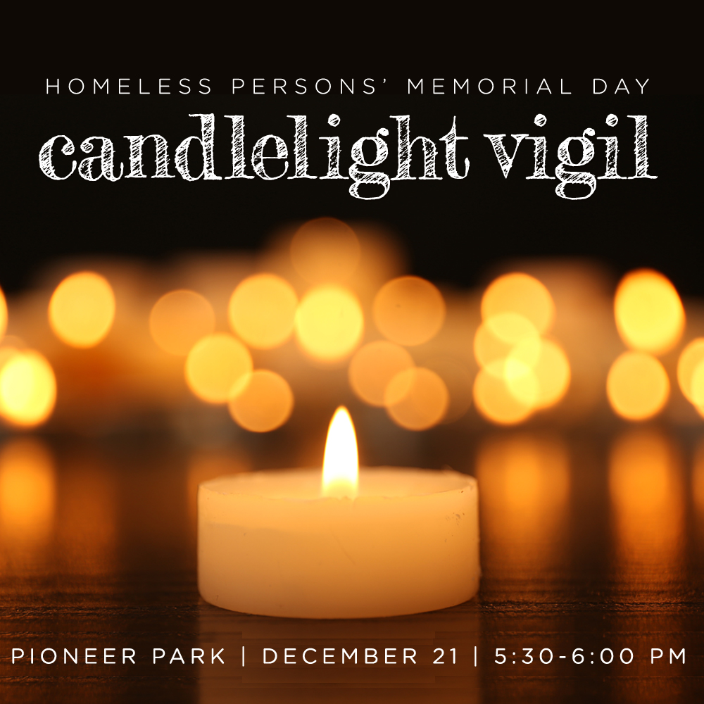 candlelight vigil homelessness fourth street clinic salt lake city