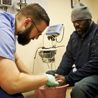 helping others fourth street clinic frostbite