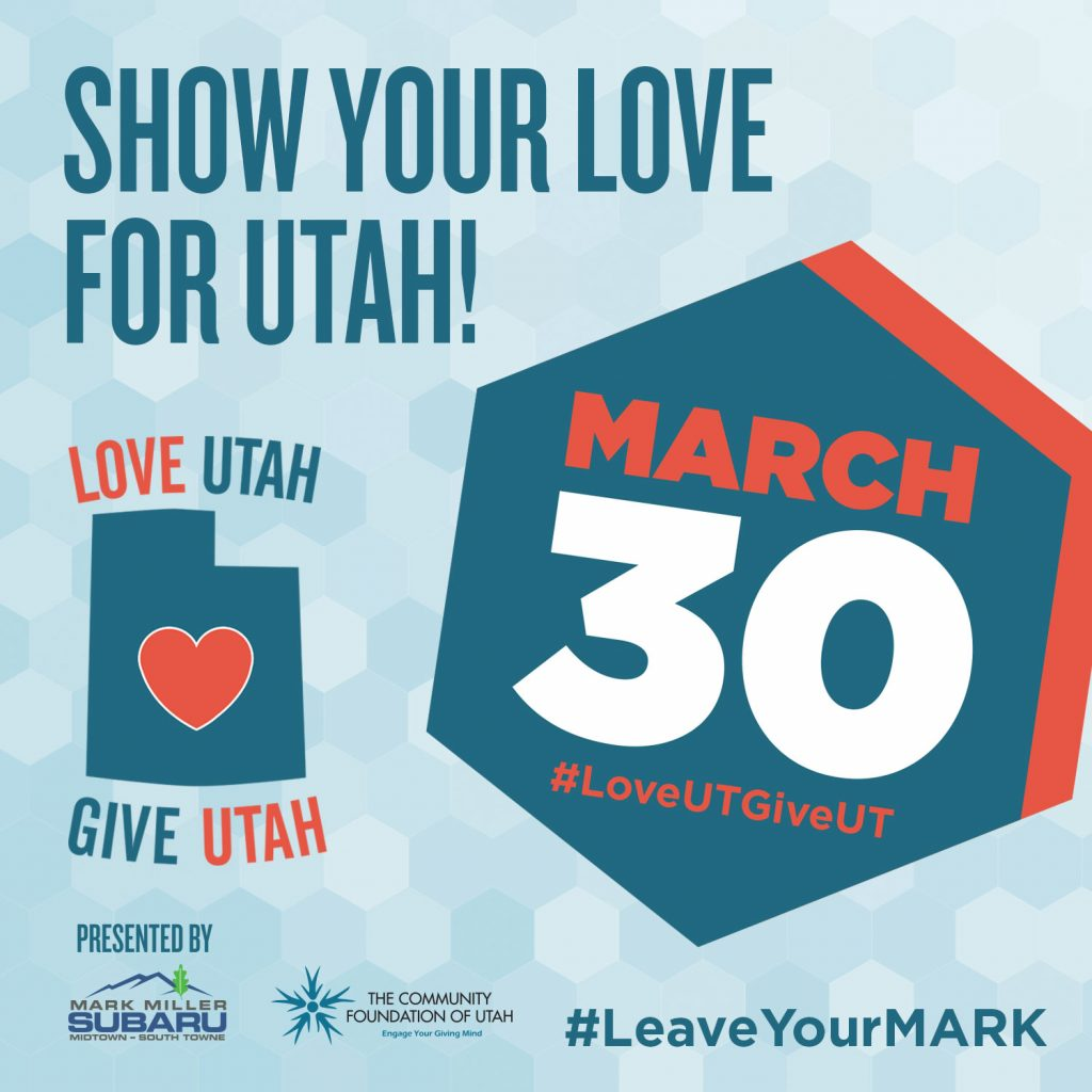 Love Utah Give Utah fundraiser event homelessness salt lake city